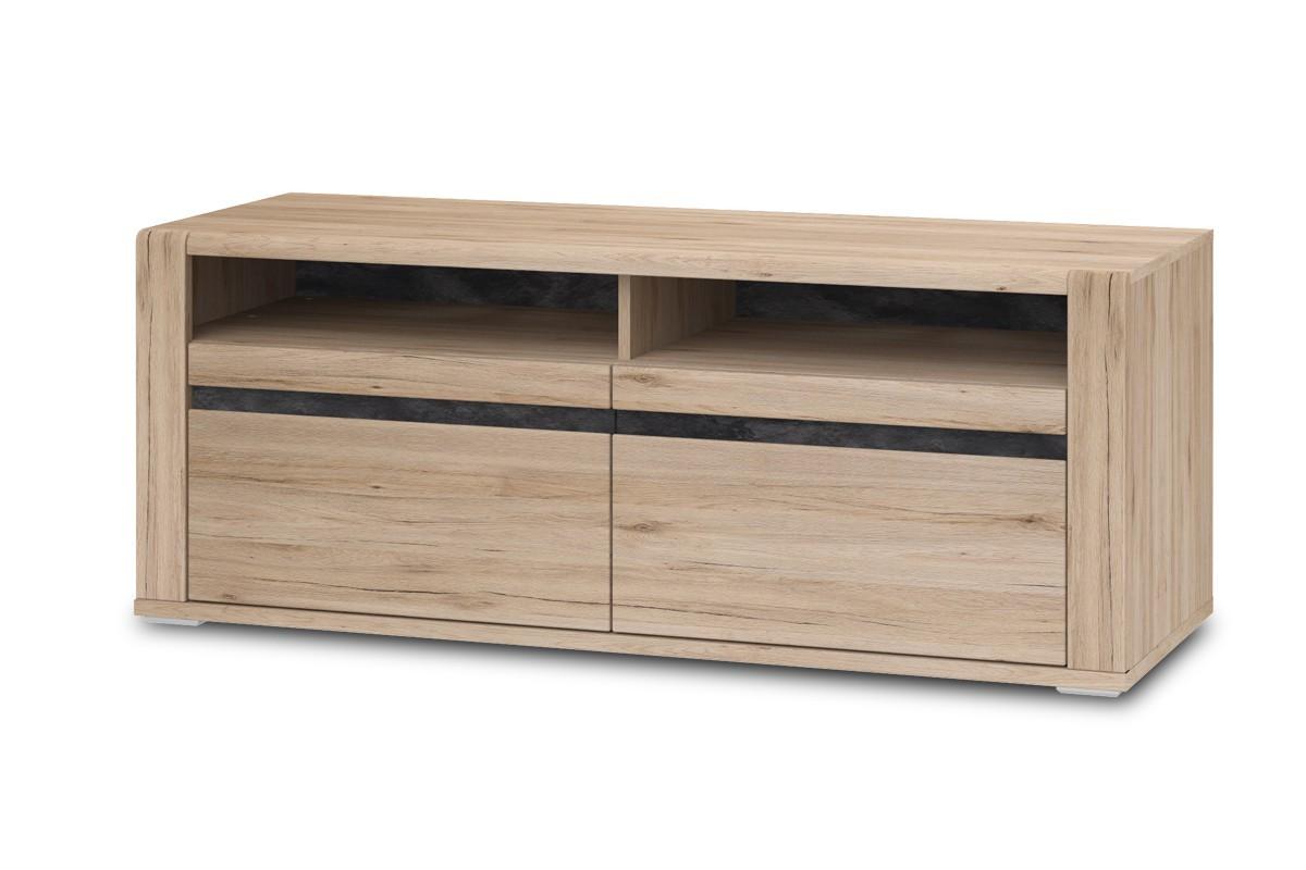 Drevené TV stolíky TV stolík Minneota Typ 31 (dub sanremo pískový/bridlica)