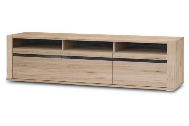 Drevené TV stolíky TV stolík Minneota Typ 32 (dub sanremo pískový/bridlica)