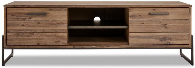 Drevené TV stolíky TV stolík Sturla (hnedá)