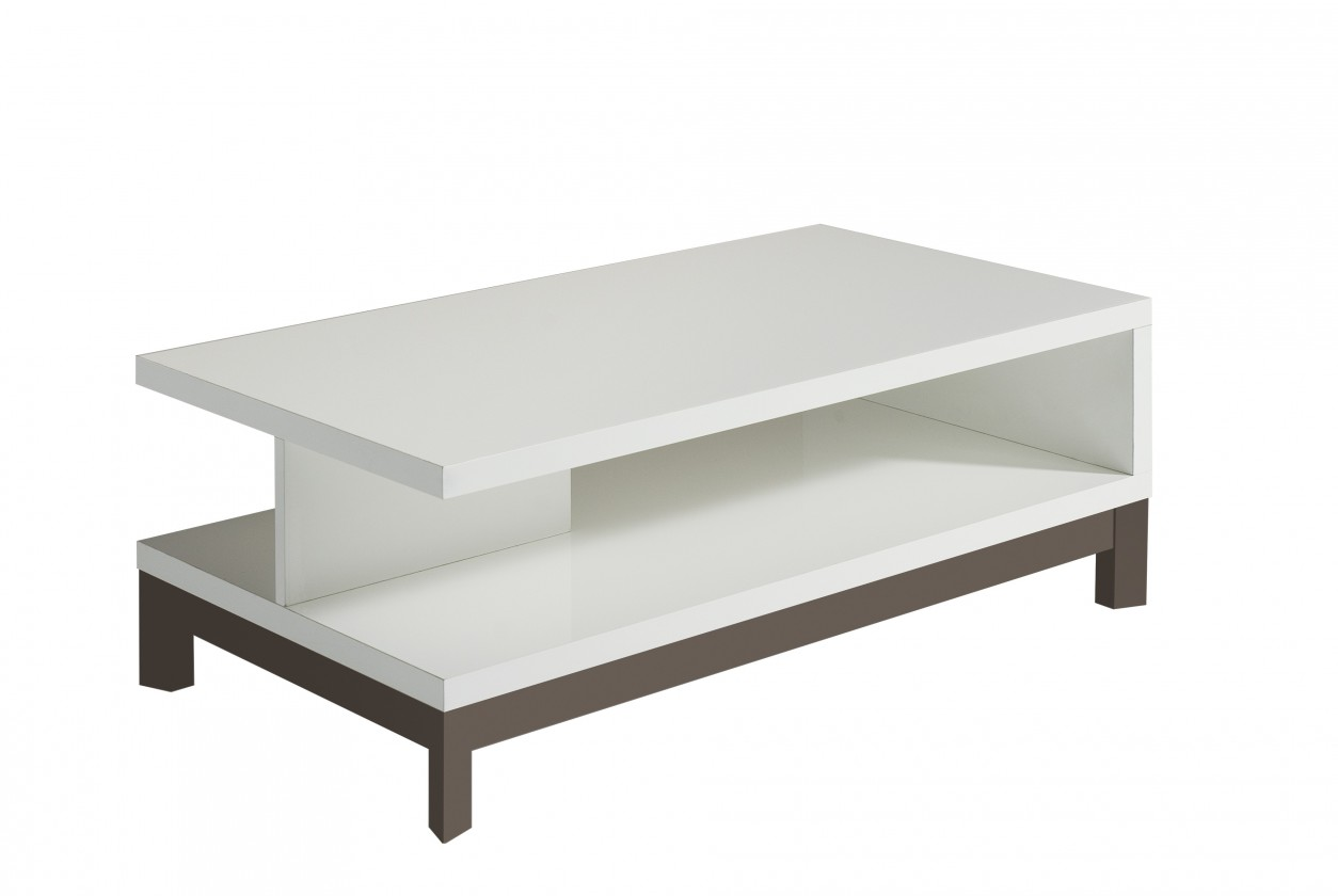 Drevený Almera - Konferenčný stolík (biela/sivá)