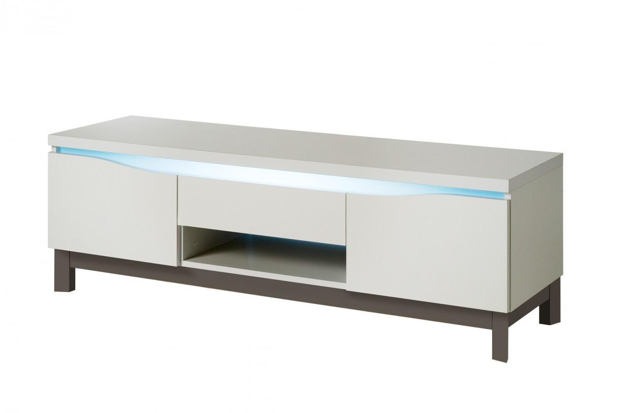 Drevený Almera - TV stolík (biela/sivá)