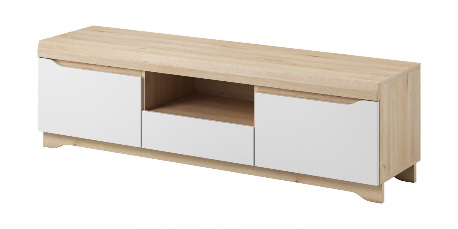 Drevený Avallon - TV stolík (buk ibsen/biela)