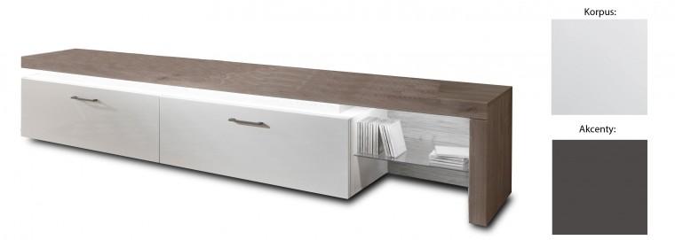 Drevený Broke Typ 31 (biela arctic / biela arctic vysoký lesk / grafit)