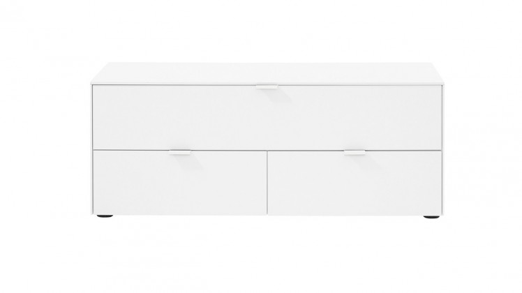 Drevený Chase - TV stolík 572745 (biela, sklo biele)
