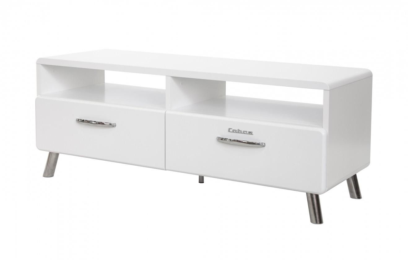 Drevený Cobra - TV stolík, 2x zásuvka