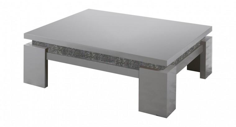 Drevený Diva - Konferenčný stolík, 4x nožičky (biela/diamant)