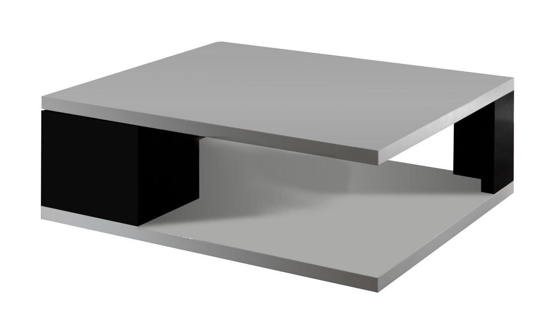 Drevený Diva - Konferenčný stolík s dvierkami (biela/čierna)