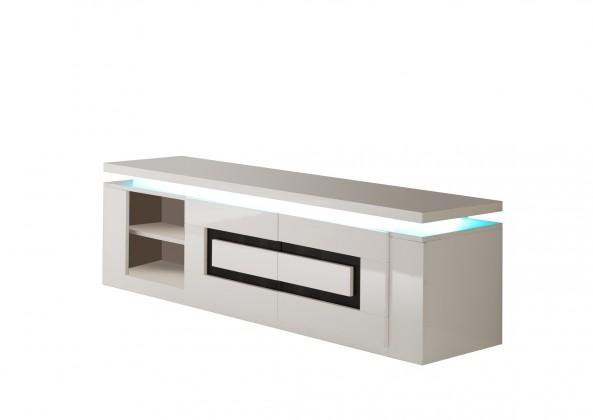 Drevený Diva - TV stolík (biela/čierna)