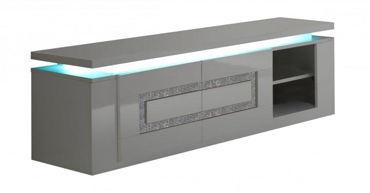 Drevený Diva - TV stolík (biela/diamant)