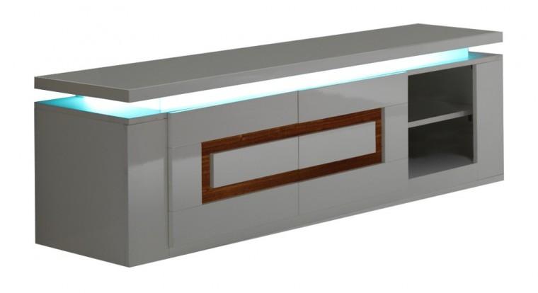 Drevený Diva - TV stolík (biela/orech)