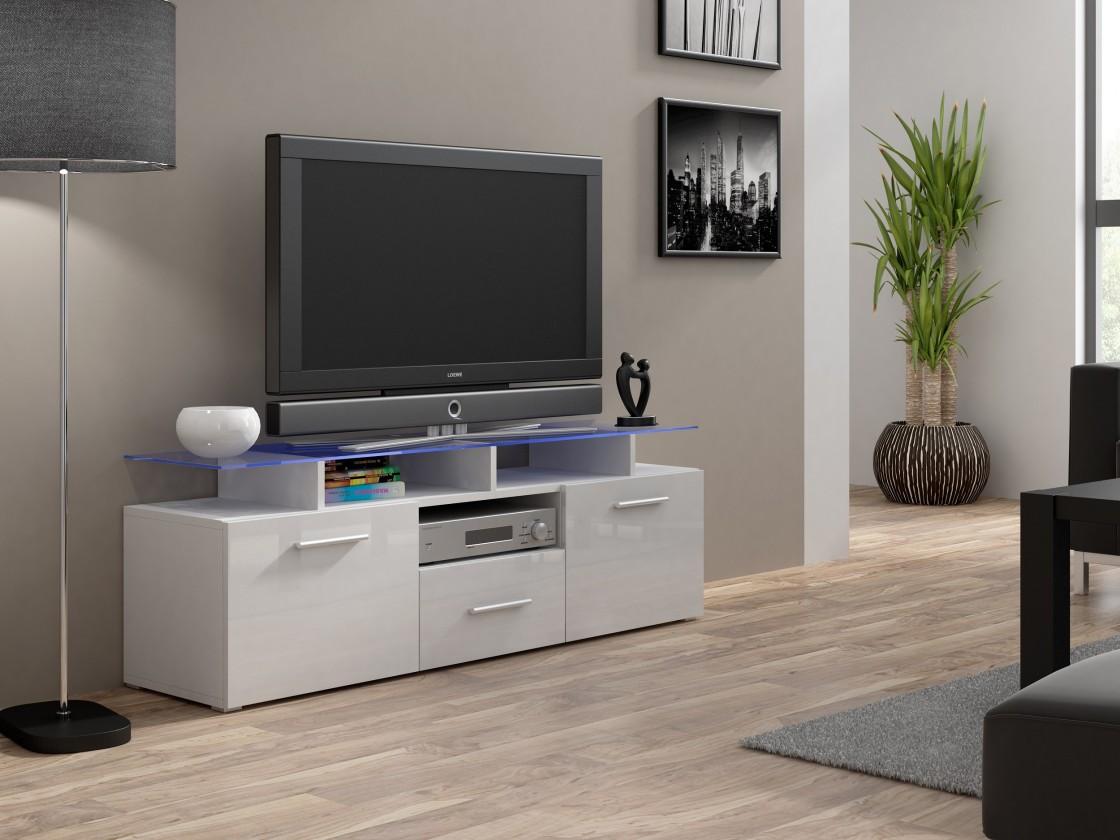 Drevený Evora mini - TV stolík (korpus - biela)
