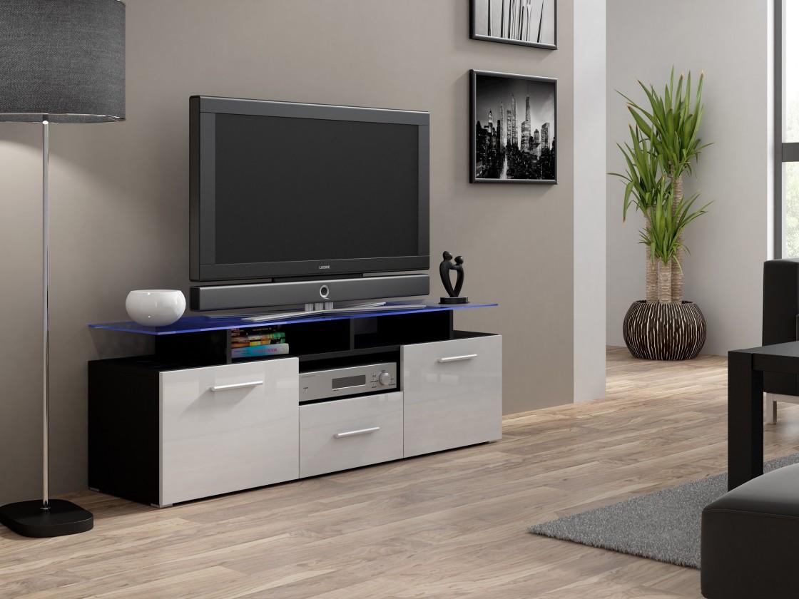 Drevený Evora mini - TV stolík (korpus - čierna)