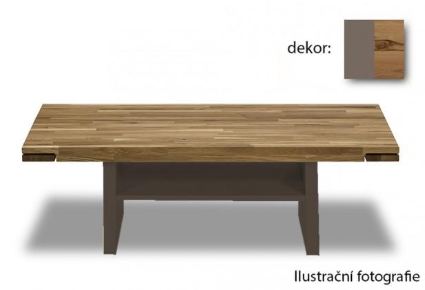 Drevený Feel - Konferenčný stolík s drevenú deskou (divoký buk/cubanit)