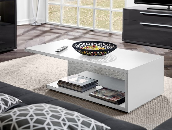 Drevený Gamble - Konferenčný stolík 570763 (biela)