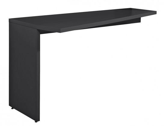 Drevený Gamble - Písací stôl k regálu ľavý 570141L (antracit)