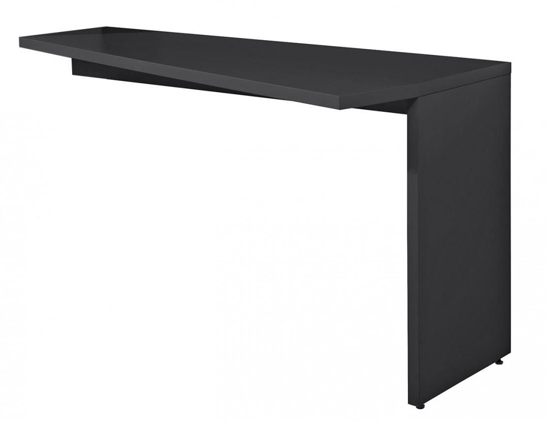 Drevený Gamble - Písací stôl k regálu pravý, 570141R (antracit)