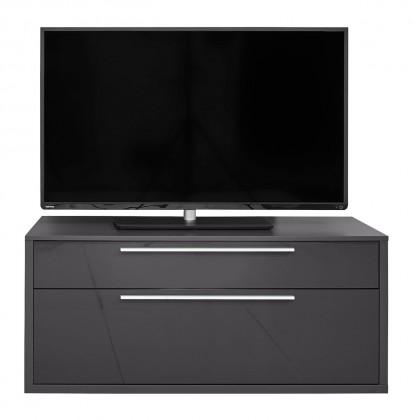 Drevený Gamble - TV stolík 570153 (antracit/antracit lesk)