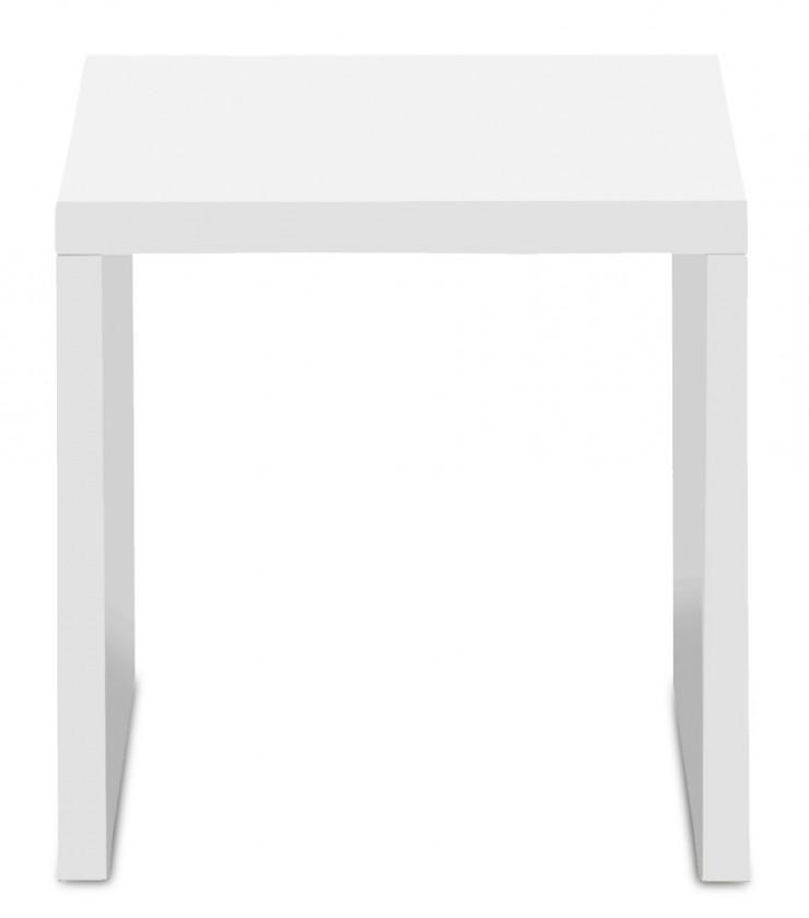 Drevený Game - konferenčný stolík, 40 cm (biela)