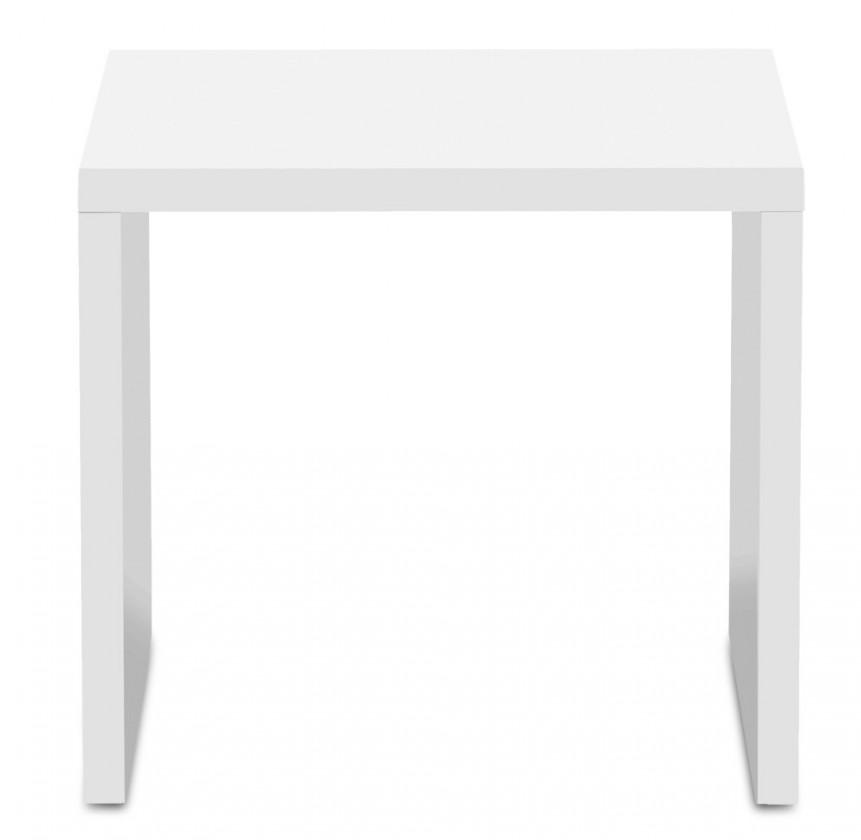 Drevený Game - konferenčný stolík, 50 cm (biela)