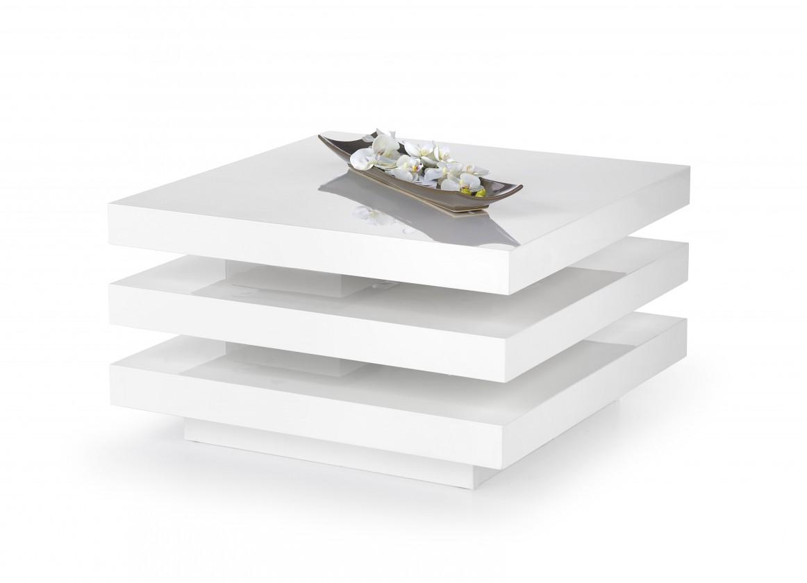 Drevený Ingrid - konferenčný stolík (bielá)
