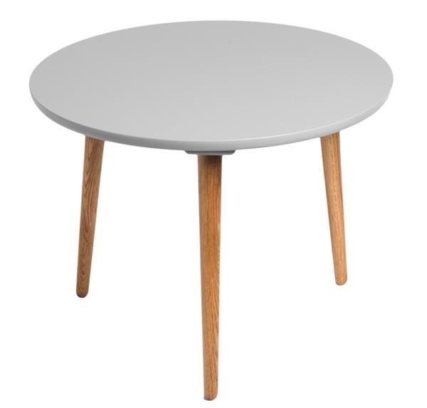 Drevený Konferenčný stolík Bergen - stredný (sivá doska/dub nohy)