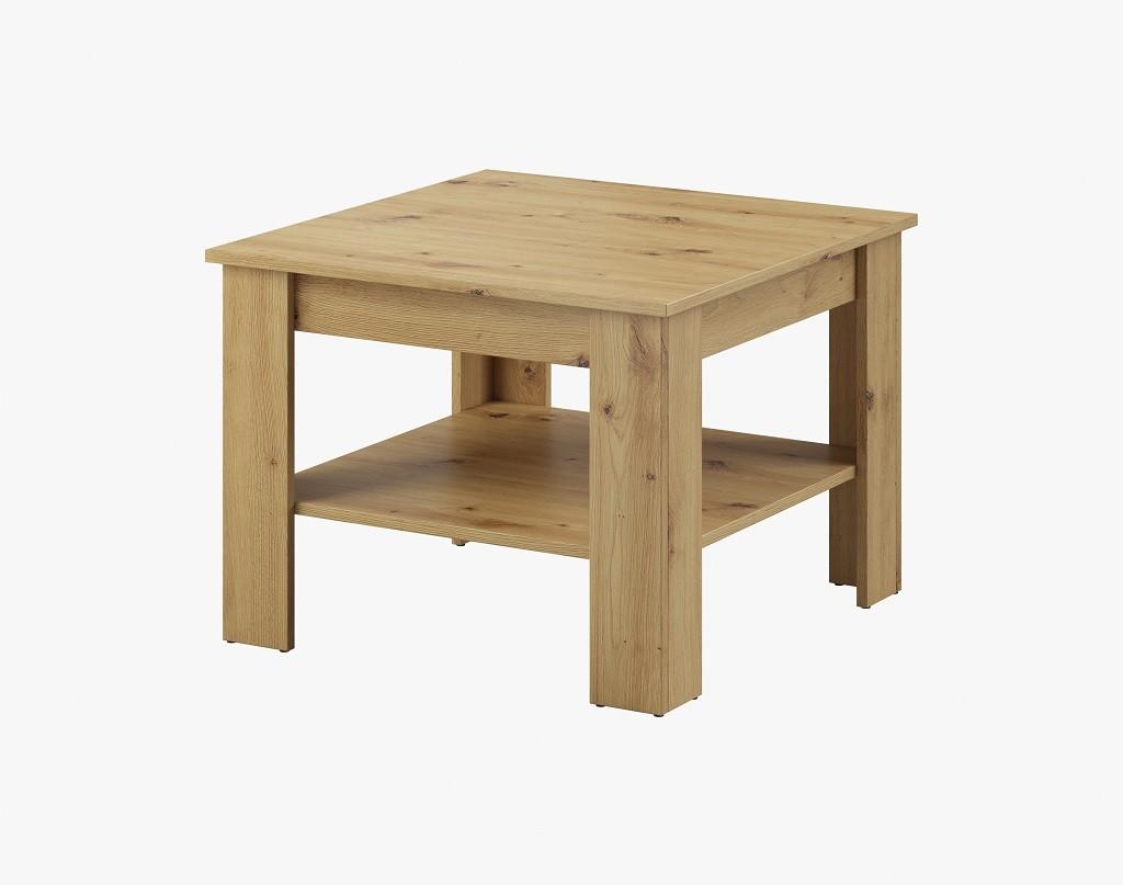 Drevený Konferenčný stolík Gete - štvorec (dub artisan)