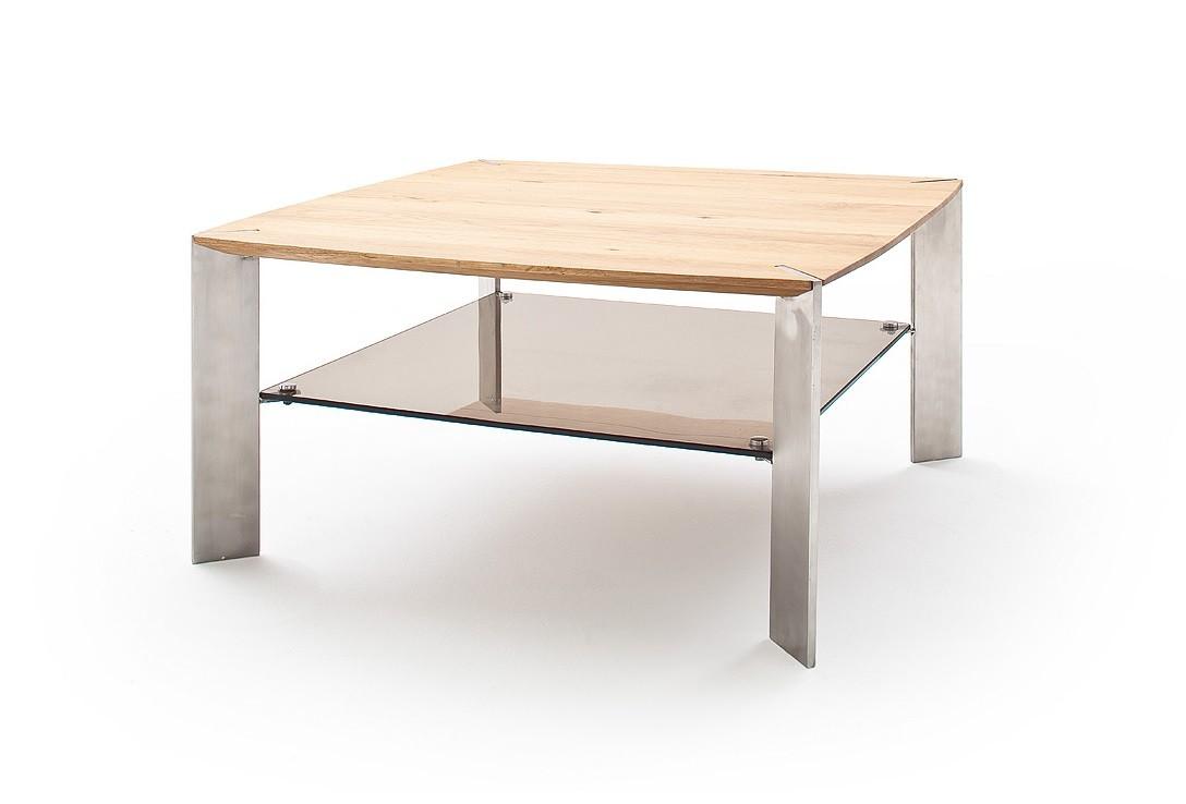 Drevený Konferenčný stolík Harla - 80x41x80 (dub, hnedá)