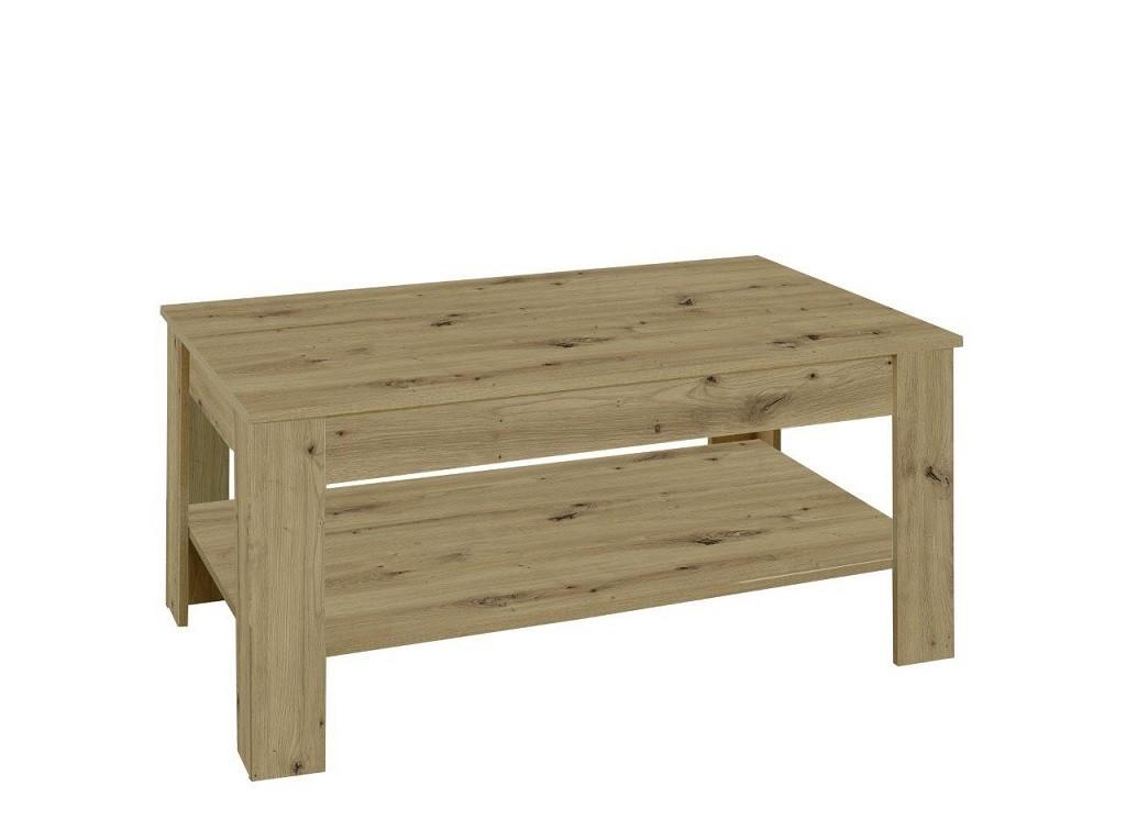 Drevený Konferenčný stolík Nive - obdĺžnik (dub artisan)
