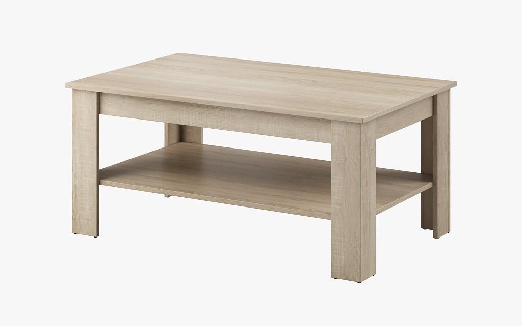 Drevený Konferenčný stolík Nive - obdĺžnik (dub sonoma)