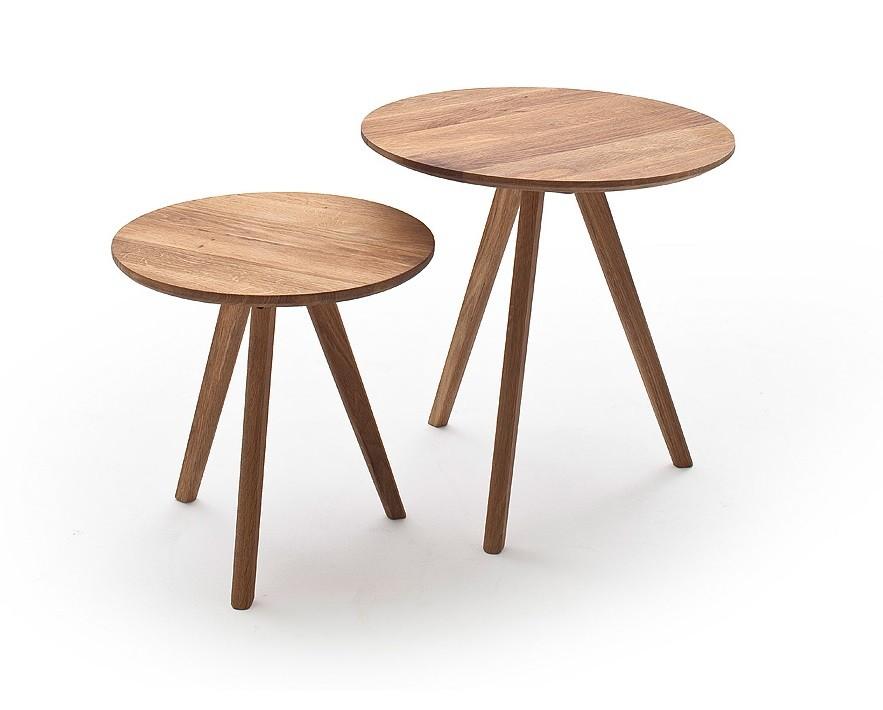 Drevený Konferenčný stolík Olean - set 2 kusov (hnedá)