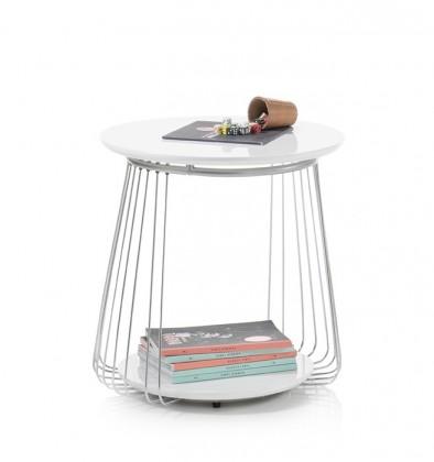 Drevený Konferenčný stolík Selvan - 50x51x50 (biela)