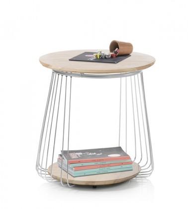 Drevený Konferenčný stolík Selvan - 50x51x50 (dub, hnedá)