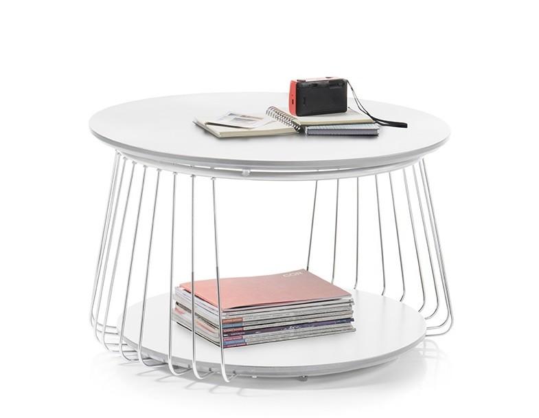 Drevený Konferenčný stolík Selvan - 70x42x70 (biela)
