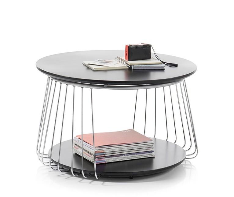 Drevený Konferenčný stolík Selvan - 70x42x70 (čierna)