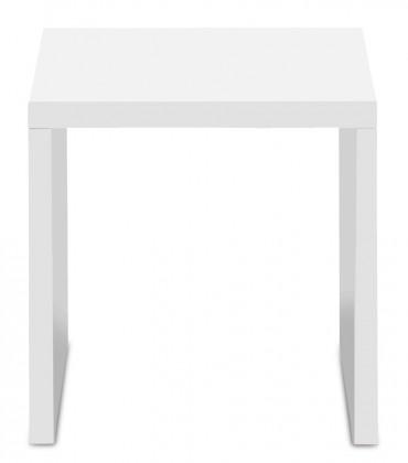 Drevený Linea - konferenčný stolík, 40 cm (biela)