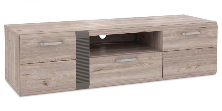 Drevený Locarno - TV stolík, LCRT131-N92 (dub nelson/sivá mat)