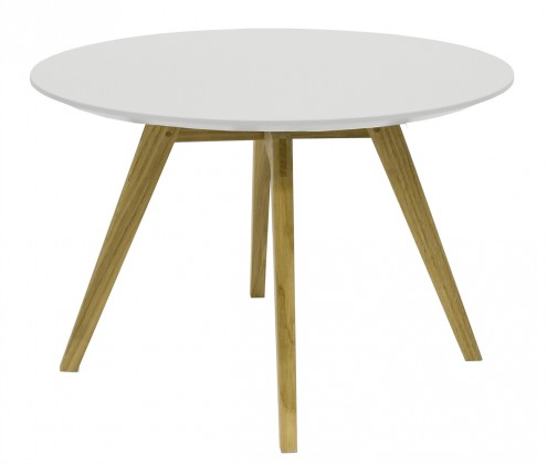 Drevený Lola Bess - Konferenčný stolík, biela, dub (9317-054+9366-001)