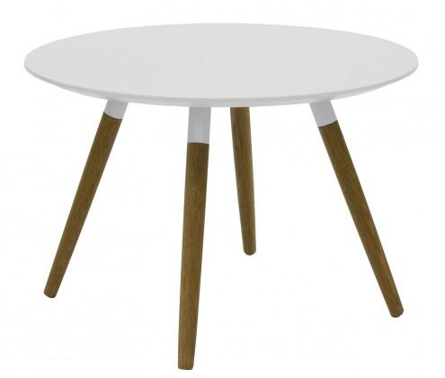 Drevený Lola Fido - Konferenčný stolík (biela, dub)