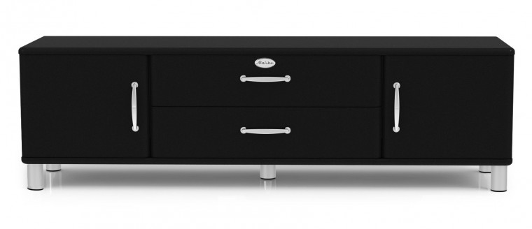 Drevený Malibu - TV stolek (čierna)