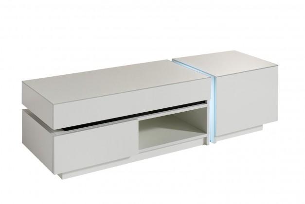 Drevený Nicoli - TV stolík (biela)