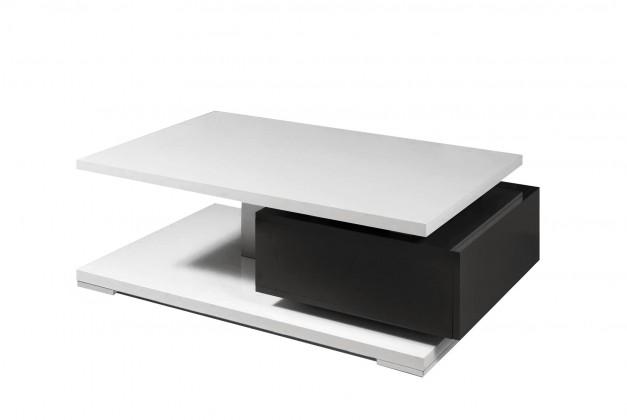 Drevený Rimini - Konferenčný stolík (čierna/biela)