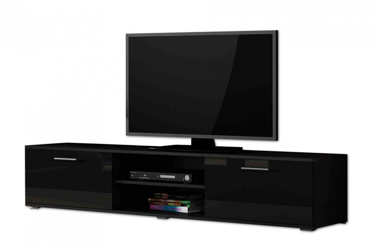 Drevený Soho - TV komoda (čierny mat / čierna vysoký lesk, RTV '180' )