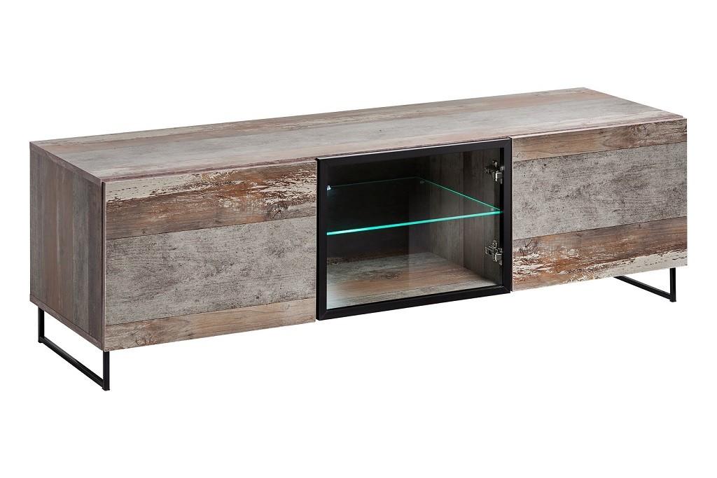 Drevený TV stolík Tandre (canion wood)