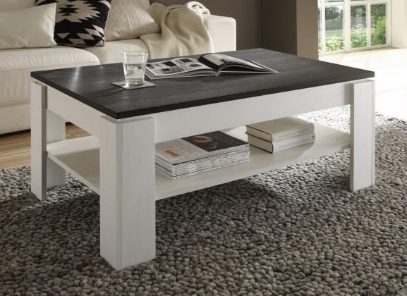 Drevený Universal - Konferenčný stolík (pinie biela/touchwood)