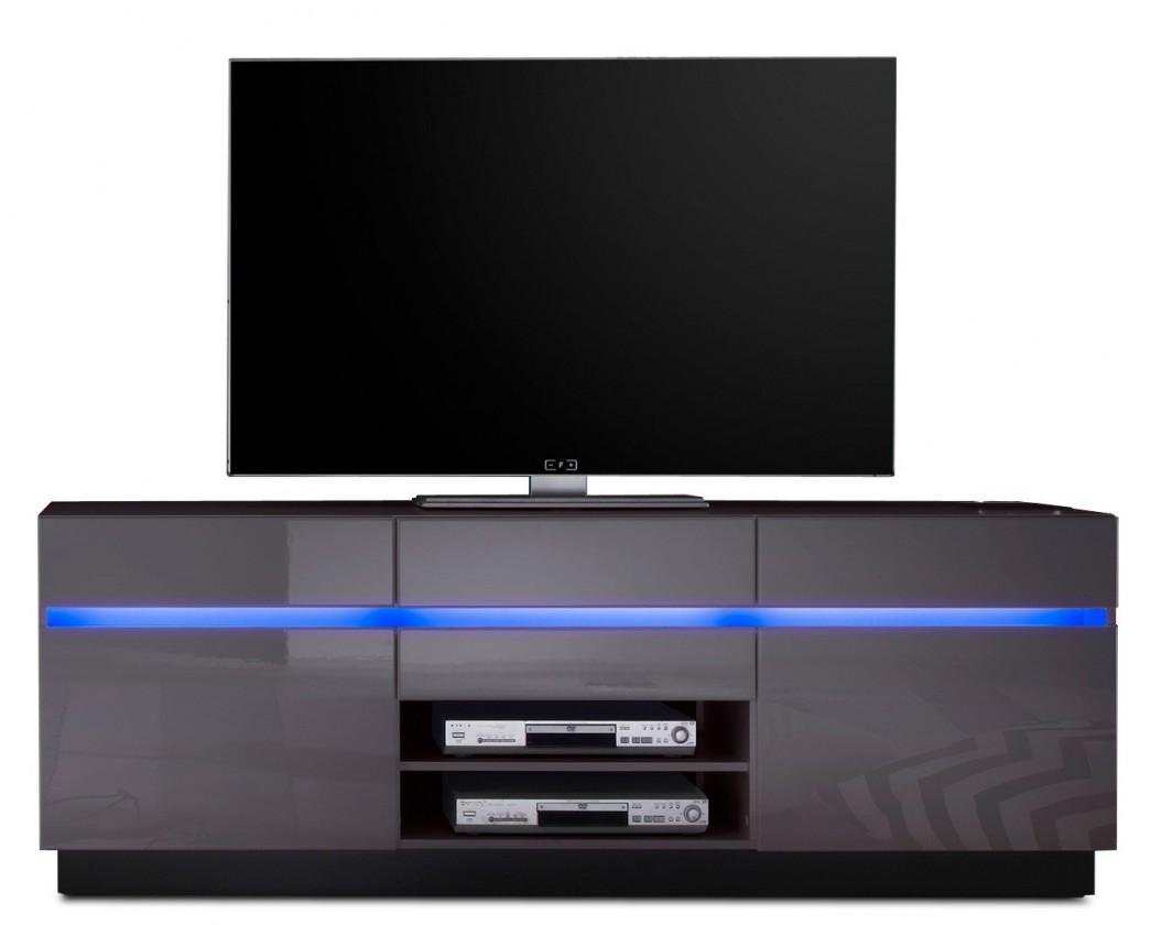 Drevený V6.920 - TV stolík, modré osvetlenie (antracit-čierna/antracit)