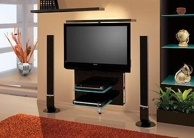 Drevený Vario - TV stolík (čierna vysoký lesk)