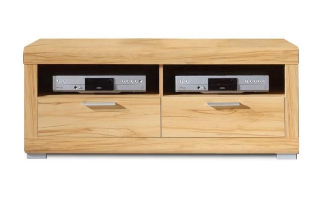 Drevený Viva - Tv stolík, 2x zásuvka (buk zlatý)