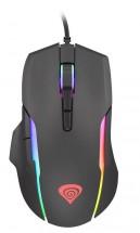 Drôtová myš Genesis Xenon 220, herná, RGB, čierna