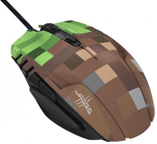 Drôtová myš Hama uRage Morph - Bloxx, 6 tlačidiel, zelená/hnedá