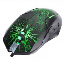 Drôtová myš Marvo M207, herná, podsvietená, 6 tlačidiel, čierna P